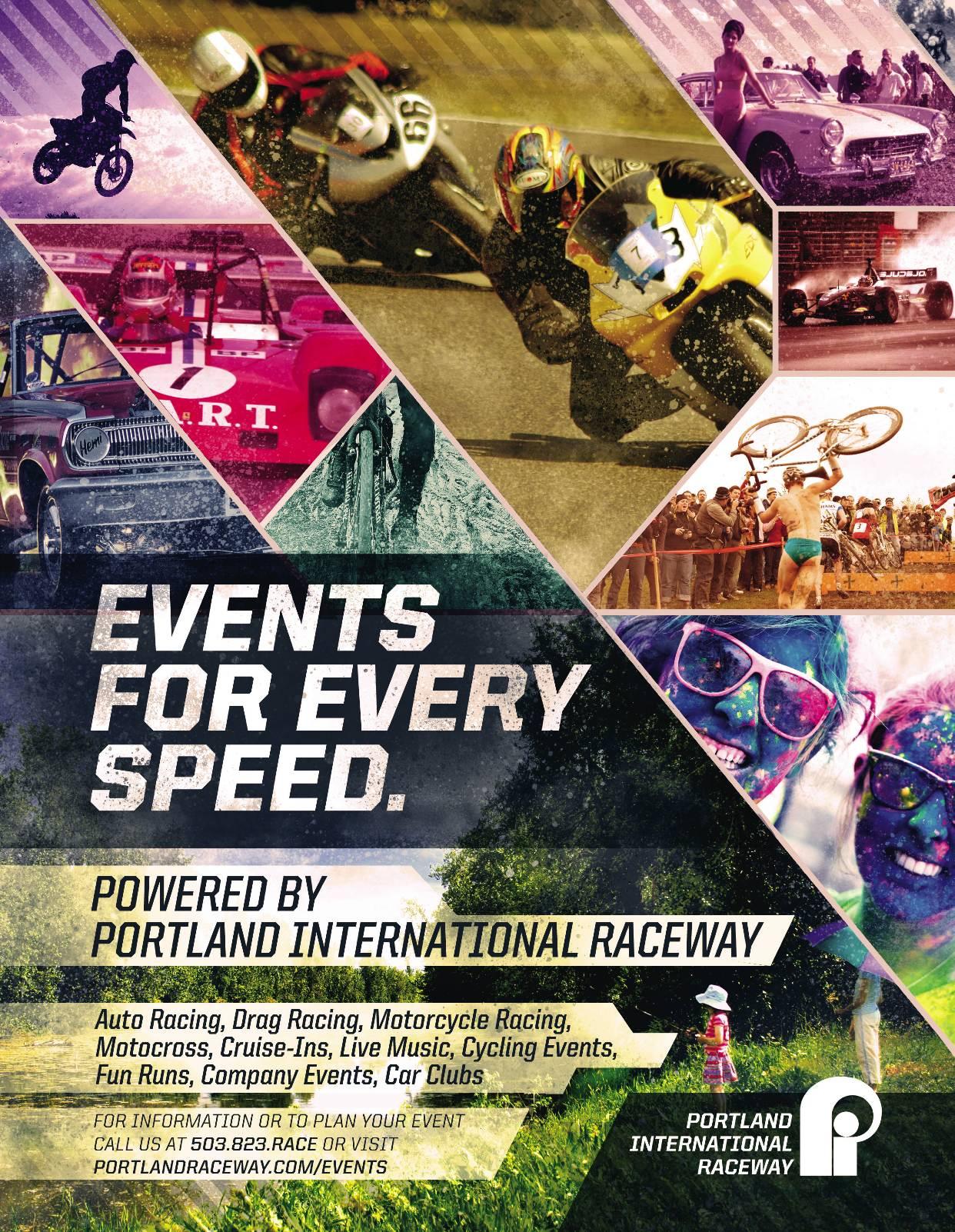Events for Every Speed - Portland International Raceway