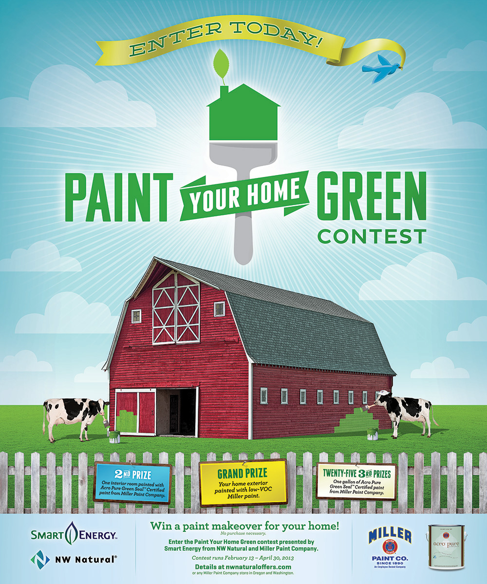 nw natural paint your home green contest. Black Bedroom Furniture Sets. Home Design Ideas