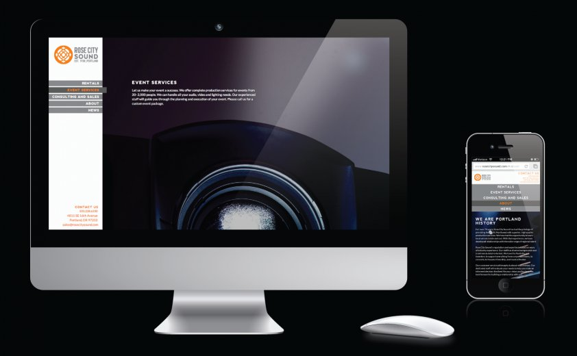 Rose City Sound's new website is not only striking, but streamlined and ultra-functional with corresponding mobile capabilities.